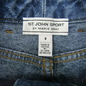 St. John Sport by Marie Gray Jeans - St. Johns Sport By Marie Gray High Waist Straight